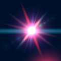 Colorful Glowing Light Burst Explosion On Dark Blue Background. Royalty Free Stock Photography - 89399037