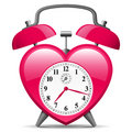 Alarm Clock In Heart Shape Stock Images - 8943104