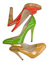Red Yellow Green Shoes Stock Image - 8947331