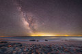 Milky Way Galaxy Over The Ocean At Cape May Stock Photography - 89403012