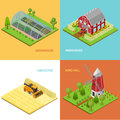 Farm Banner Card Set Isometric View. Vector Stock Photography - 89403162