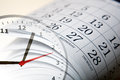 Wall Calendar With The Number Of Days And Clock Stock Image - 89404151