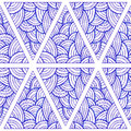 Hand Drawn Abstract Seamless Pattern, Ethnic Decorative Triangle Royalty Free Stock Photos - 89405048
