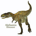 Abelisaurus Dinosaur Tail With Font Royalty Free Stock Images - 89412999