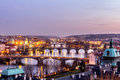 Charles Bridge (Karluv Most) And Old Town Tower, The Most Beauti Royalty Free Stock Photography - 89416327
