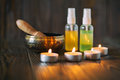 Singing Bowl And Oil Stock Images - 89430004