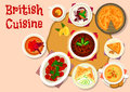 British Cuisine Lunch Dishes Icon Design Stock Images - 89435794