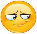Embarrassed Smile Emoticon Royalty Free Stock Image - 89436676