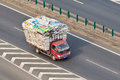 Overloaded Small Truck On The Expressway, Beijing, China Stock Photos - 89449103