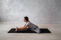 Woman Practicing Advanced Yoga. A Series Of Yoga Poses Stock Photos - 89493583