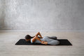 Woman Practicing Advanced Yoga. A Series Of Yoga Poses Stock Image - 89493841