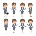 Chibi Brown Hair Female Character Business Woman Royalty Free Stock Image - 89496156