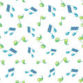 Simple Music Note Seamless Pattern Royalty Free Stock Photo - 89498835
