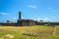 Old Clock Tower And Galle Dutch Fort Ancient Walls Royalty Free Stock Photo - 89499845