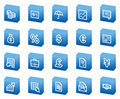 Finance Web Icons, Blue Box Series Royalty Free Stock Image - 8956416