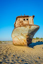 Rusted Vessel In The Ship Cemetery, Uzbekistan Royalty Free Stock Images - 89508219