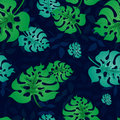 Pattern With Tropical Leaves3-01 Stock Photos - 89516943