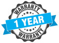 1 Year Warranty Stamp Royalty Free Stock Images - 89523039