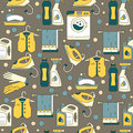 House Cleaning Seamless Vector Pattern. Royalty Free Stock Photos - 89538768