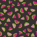 Seamless Vector Pattern With Watermelon. Royalty Free Stock Photos - 89539958