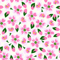 Vector Illustration Of Seamless Blossom Pattern. Royalty Free Stock Photos - 89540188