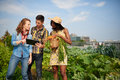 Friendly Team Harvesting Fresh Vegetables From The Rooftop Greenhouse Garden And Planning Harvest Season On A Digital Royalty Free Stock Photo - 89549695