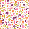 Seamless Primitive Geometric Patterns For Tissue And Postcards. Royalty Free Stock Images - 89558069