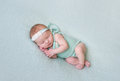 Aborable Baby Napping Oh Her Side Royalty Free Stock Photo - 89565155