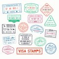 Visa Stamps Or Passport Signs Of Immigration Stock Photography - 89579892