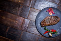 Meat Steak On Plate Royalty Free Stock Photo - 89580895