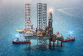 Offshore Oil Rig Drilling Platform Royalty Free Stock Image - 89597826