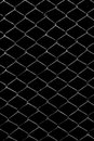 Metal Grid On A Black Background Stock Photos - 89602013