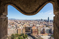 View Of Barcelona From Tower Of Sagrada Familia Royalty Free Stock Images - 89605769