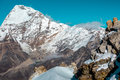 High Altitude Mountains Landscape Rock Snow And Majestic Summit Royalty Free Stock Photos - 89623508