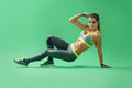 Studio Beauty Shots Of A Sportswoman Working Out Royalty Free Stock Photo - 89638355