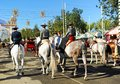 On Horseback During The Seville Fair Andalusia, Spain Stock Photos - 89651903