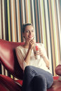 Woman Drinking Soda Royalty Free Stock Photo - 89659455
