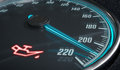 Oil And Engine Malfunction Warning Light Control In Car Dashboard. 3D Rendered Illustration Stock Image - 89671591