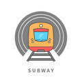 Subway Train In The Tunnel Royalty Free Stock Photo - 89688965