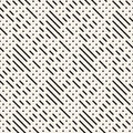 Irregular Maze Shapes Tiling Contemporary Graphic Design. Vector Seamless Black And White Pattern Stock Photos - 89695783