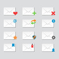 Email Envelope Cover Icons Communication And Office Correspondence Blank Cover Address Design Paper Empty Card Business Royalty Free Stock Image - 89713076