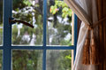 Green Landscape Seen From The Window Of The Room Stock Images - 89735684