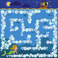 Maze Game For Children. Little Mermaid And The Prince`s Ship Stock Photos - 89755033