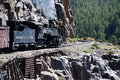 The Narrow Gauge Railway From Durango To Silverton That Runs Through The Rocky Mountains By The River Animas In Colorado USA Royalty Free Stock Photography - 89760647