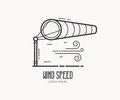 Wind Speed Logo With Windsock Stock Images - 89792534