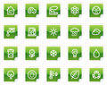 Ecology Web Icons, Green Sticker Series Royalty Free Stock Photos - 8988798