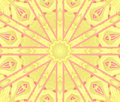 Regular Round Star Ornament Yellow Violet Pink Centered Stock Image - 89808631