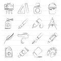 Art And Painter Icons Royalty Free Stock Photo - 89809685