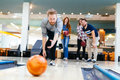 Friends Having Fun While Bowling Stock Photography - 89828202