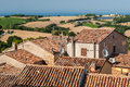 Roofs Of Ancient Houses In The Town Of Mondolfo, Near Pesaro Marche, Italy Stock Photo - 89854930